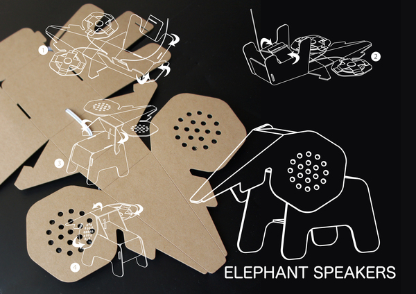 DIY Eco Cardboard Animals by Eduardo Alessi