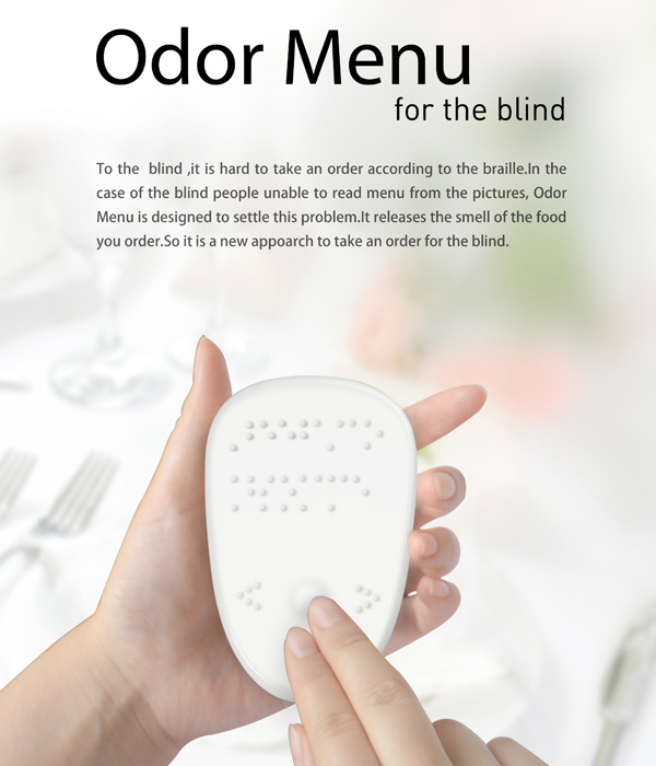 Odor Menu – Braille Menu Card by Liu Jie, Wen Ho & Liu Dongming