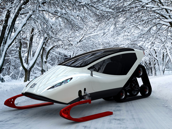 enclosed snow machine