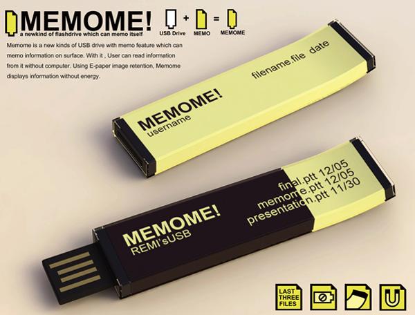 MEMOME! USB Drive by Jui-Min Huang
