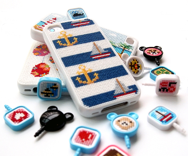 Stifin - Cross-Stitch Cell Phone Accessories by Leese Design