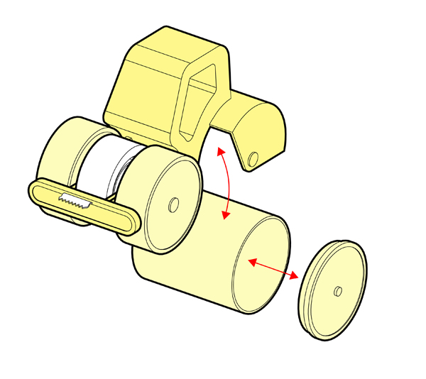 how to put tape on a tape roller