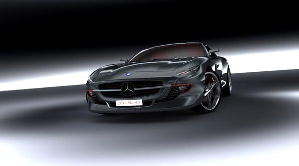 Mercedes 300 SL Gullwing by Slimane Toubal
