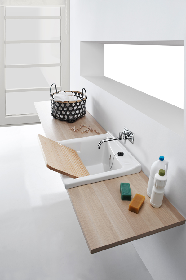 Blink - Ceramic Clothes Washing Sink by Sanindusa