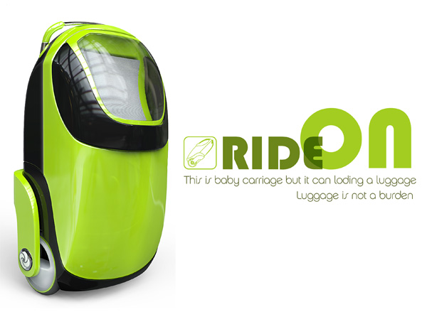 Ride On – Suitcase and Baby Buggy Concept by Kim Yo Hwan