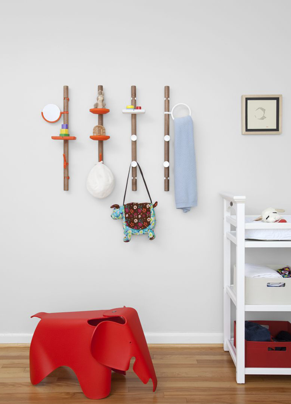Clip Tree - Wall Mounted Hanging System by Matthew Plumstead