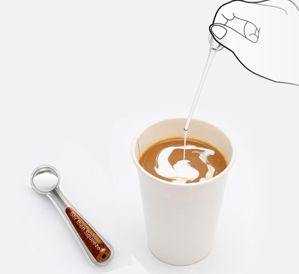 Stir Then Squeeze - Instant Coffee Stick by Yu-Ren Lai