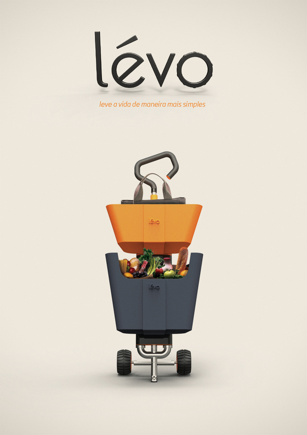 Levo - Multi Use Shopping Cart by Matheus Pinto & Fernando Ximenes