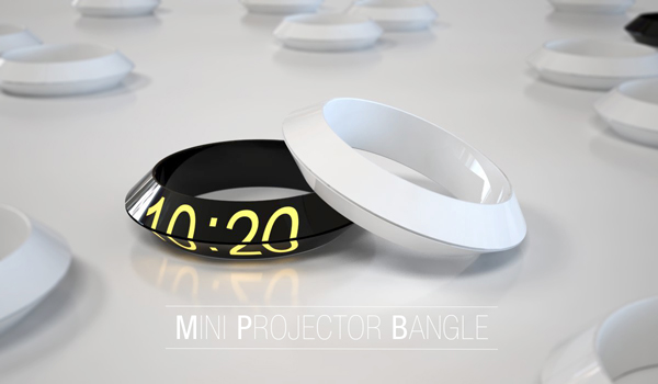 Mini Projector Bangle by Prospective Design Studio