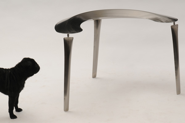 Puff Stool, Yayu Table and Dan Bench by MoMo Materials Design