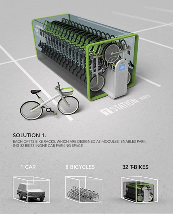 T-bike station design