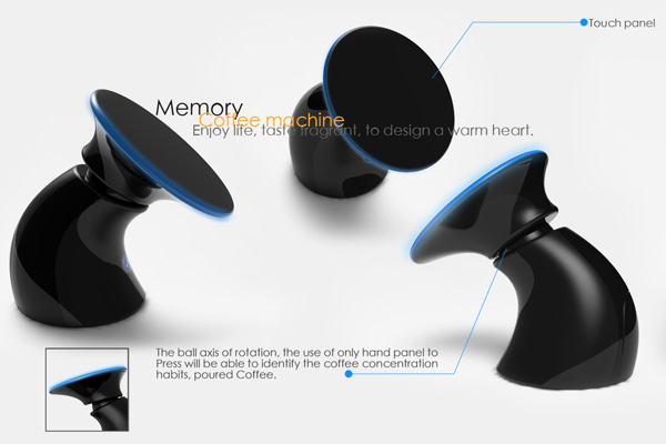 Coffee Maker That Uses Hand Print Recognition : Memorizing The Right Cuppa Java Yanko Design