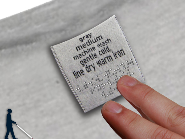Braille Label - Cloth Label by Chang Gung University