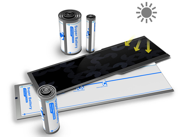 Super Battery – Solar Rechargeable Battery by Xiong Luyao