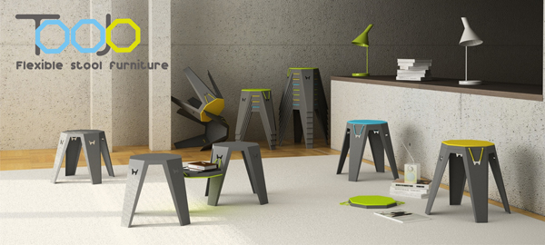 Toojo - Flexible Stool Furniture by Marek Harmata