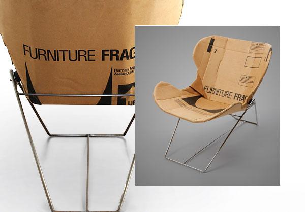 Repurposed Cardboard in Posh Chair Shapes