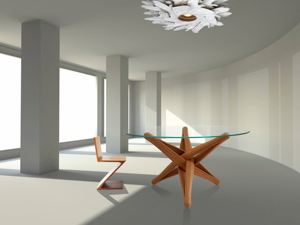 Lock - Bamboo Dining Table by J.P. Meulendijks