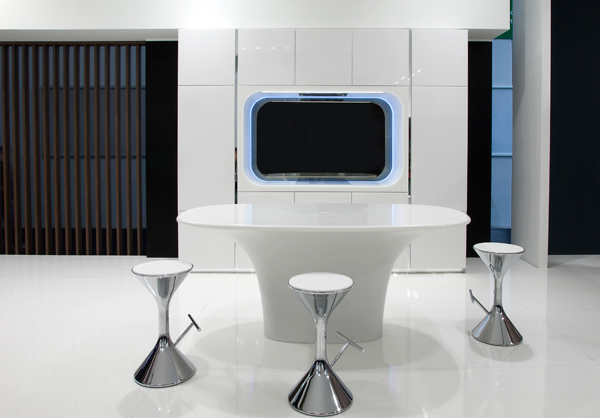 Kook and Karan - HI-MACS Kitchens by Karim Rashid for Aran Cucine