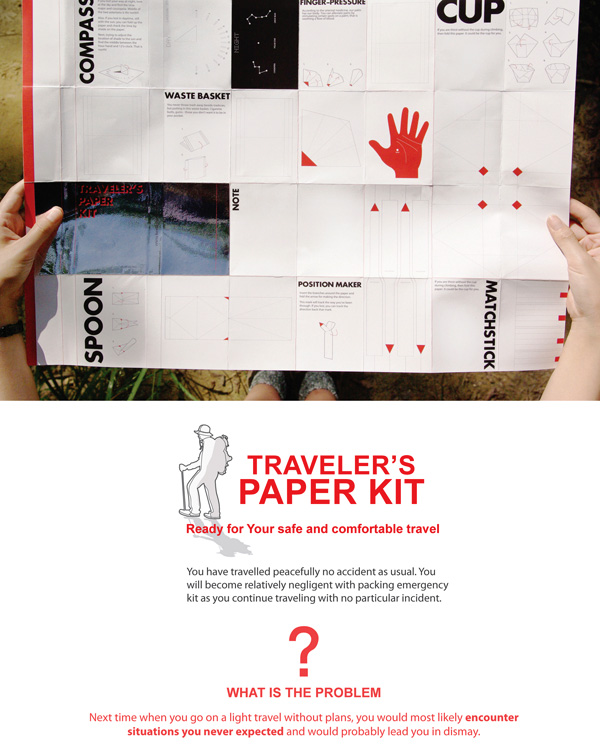 Traveler's Paper Kit by Jaeyong Lee, Jongwon Baek, Seonju Ryu, Sooji Park & Yeonjung Lee