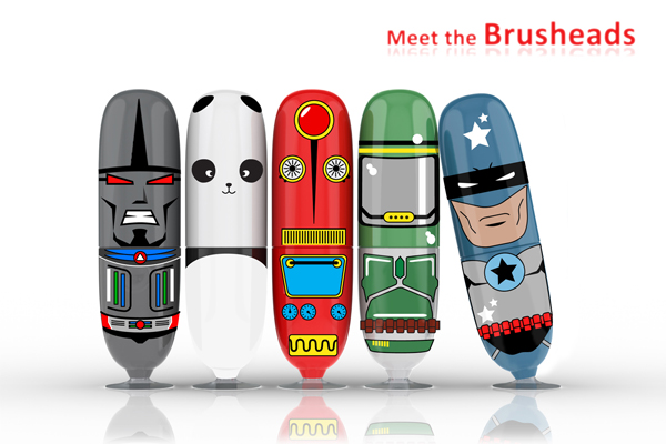 The Brusheads - 3D Toothbrushes by PA Consulting