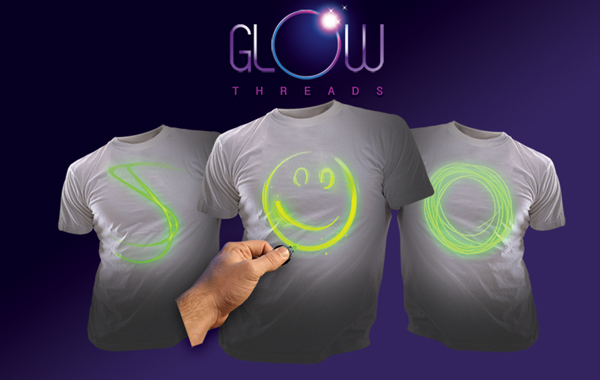 Interactive Glow Shirts by Glow Threads