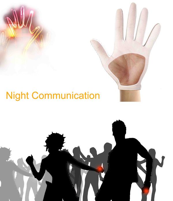 Night Communication – Illuminating Glove by Wang Lili