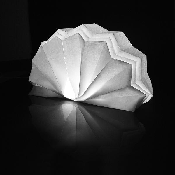 Sustainable orgami lights yanko design - Paper light fixtures ...