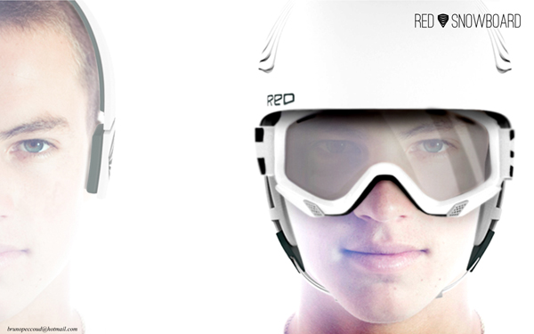 RedSnowboard Helmet by Bruno Peccoud