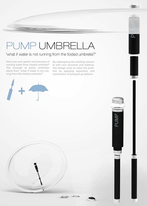 Pump Umbrella by Kiho Jung and Mingyeon Jang