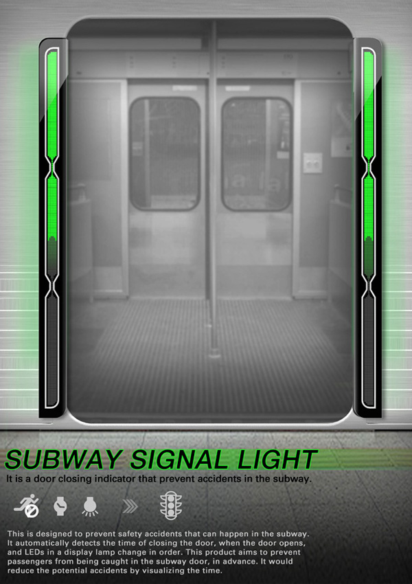 Subway Signal Light – Safety Light On Subway Trains by Hyun Ju Park