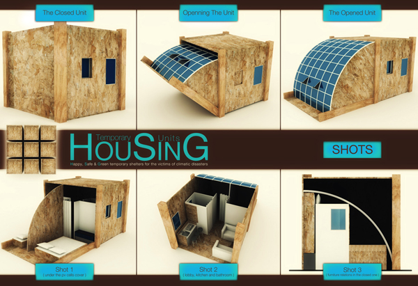 Temporary Living Shelters : Home away from yanko design