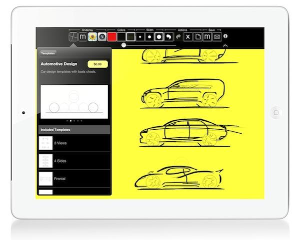 Digital tracing paper on the iPad - image  on http://bestdesignews.com