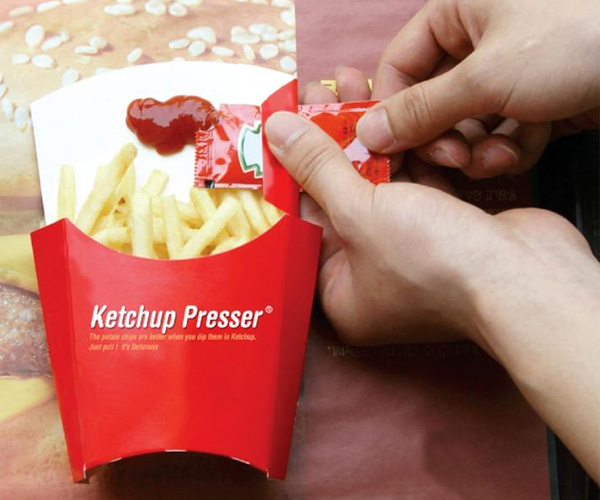Ketchup Presser – Fries And Ketchup Packaging by Hwandong Lee, Myung Gyu Kim, Nari Lee & Taeno Yoon
