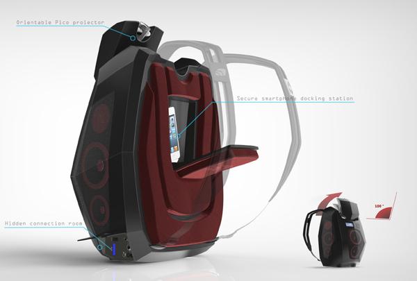 Ghetto Blaster Backpack - image boompack_05 on http://bestdesignews.com