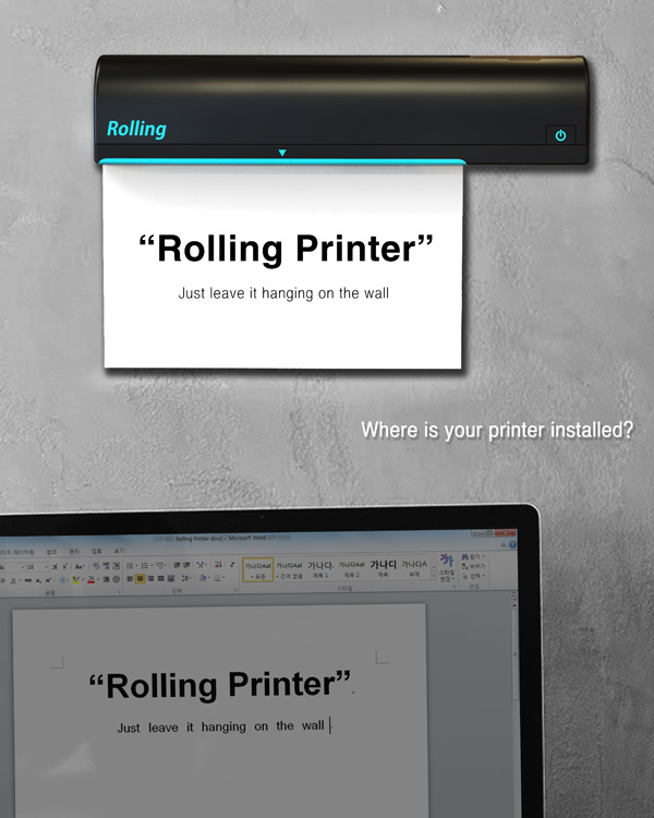 The printer is officially off the table - image  on http://bestdesignews.com