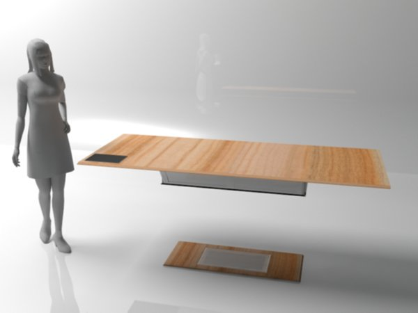 Levitating table yanko design for Magnetic floating couch