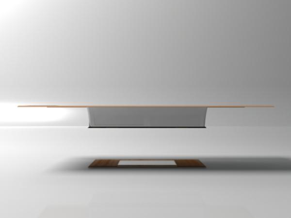Levitating table - image  on http://bestdesignews.com