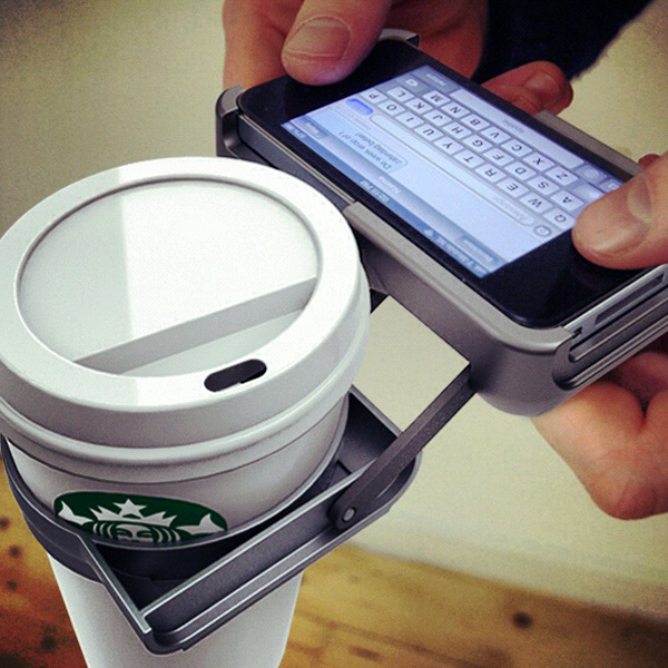 Uppercup - iPhone Cupholder by NATWERK