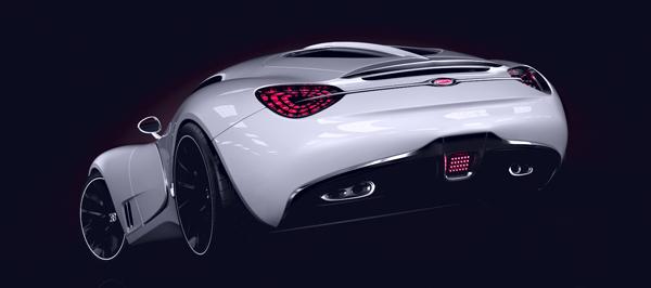 Bugatti Veyron Going Back To The Future Art Promo: Mouth-Watering Bugatti