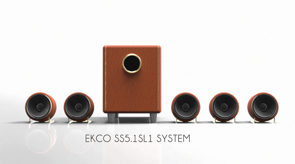 EKCO Surround Sound and Sub in Special Leather by Luke Anthony Firth