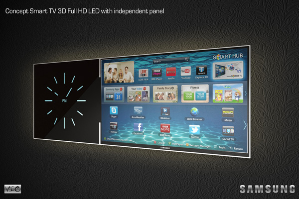 Samsung Smart TV Concept by Vladimir Ogorodnikov