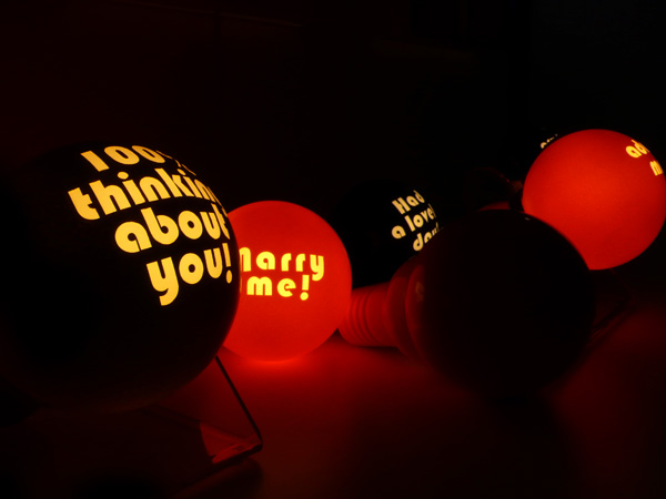 Message Bubble Light by Soojung Park for November Design