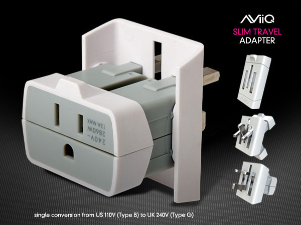 Slim Travel Adaptor by AViiQ