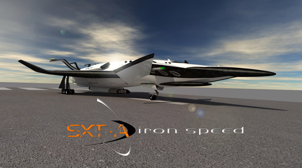 SXT-A Iron Speed - Supersonic-Hypersonic-Space Tourism by Oscar Viñals