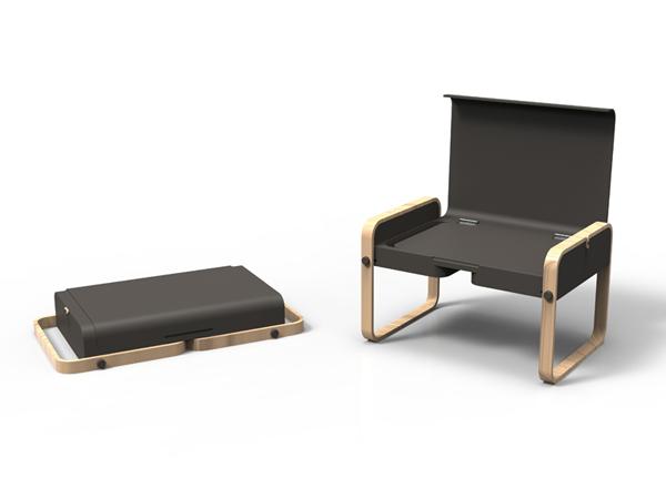 Envol - Portable Desk by Thibaut Rouganne