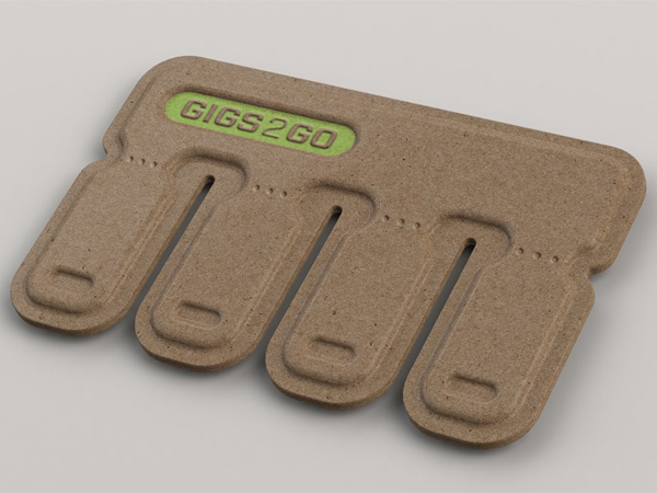 GIGS.2.GO – Sharable, Disposable USB Flashdrive by Kurt Rampton and BOLTgroup