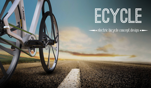 eCycle - Electric Bicycle Concept Design by Milos Jovanovic