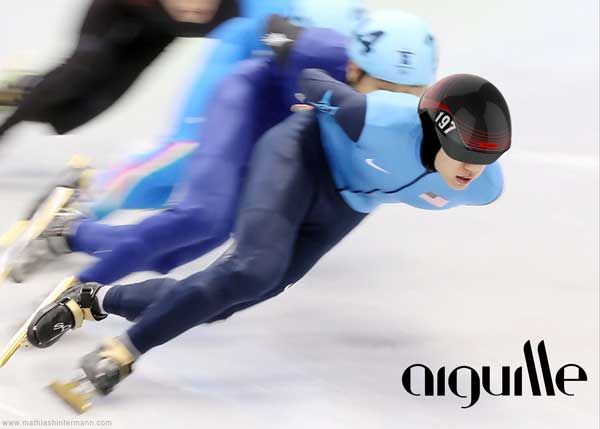 Aiguille - Short Track Speed Skater Headgear by Mathias Hintermann