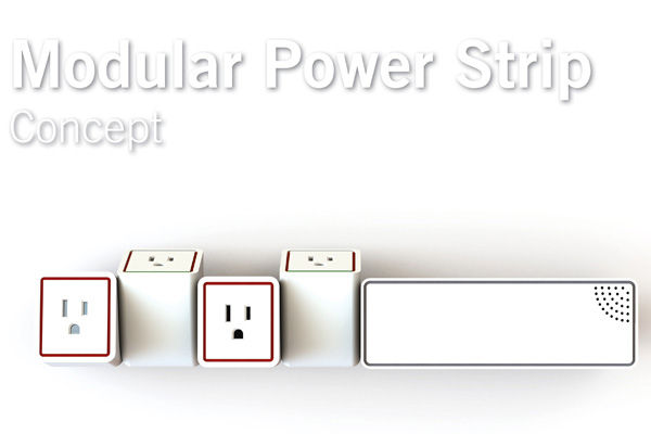 Modular Power Strip Concept by William Harris