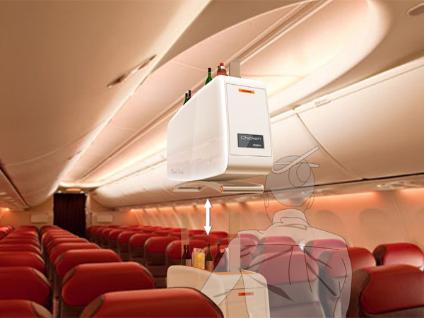 Flying Trolley – In-flight Service Trolley Design by Seongjoo JOH & Lee Min – Joo